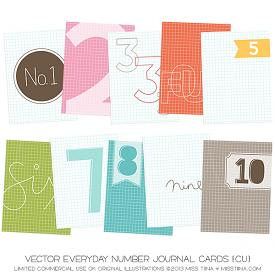 Everyday Number Journal Cards (CU)