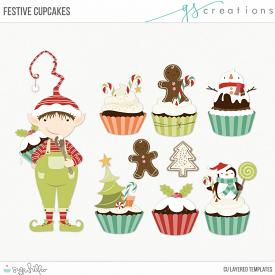 Festive Cupcakes Layered Templates (CU)