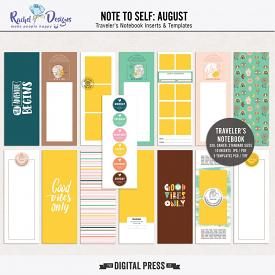 Note To Self August | Traveler's Notebook