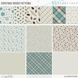 Christmas Woods Layered Patterns (CU)