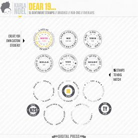 Dear 19... | badge stamps