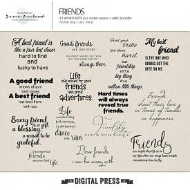 Friends - word art