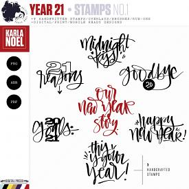Year 21 | New Year Sentiments 1 | Stamps