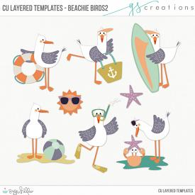 Beachie Birds2 Layered Templates (CU)