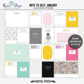 Note To Self January | Pocket Cards