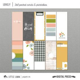 Lovely | 3x8 Pocket Cards & Printables