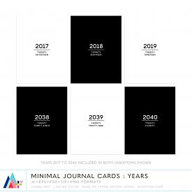 Minimal Journal Cards : Years (CU)