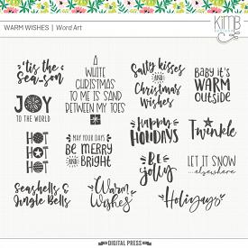 Warm Wishes | Word Art