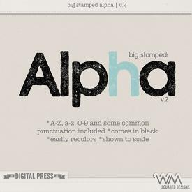 Big Stamped Alpha | V.2
