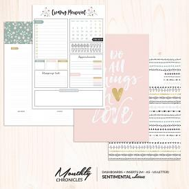 Monthly Chronicles | Sentimental Dashboards & Inserts