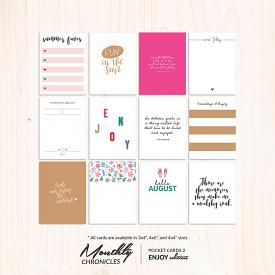 Monthly Chronicles | Enjoy Pocket Cards 02