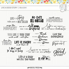 Live A Good Story | Word Art