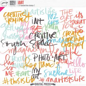 iArt   word stamps
