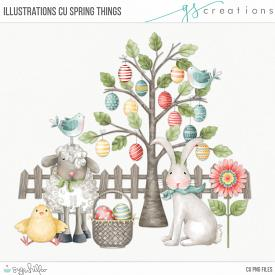 Spring Things Illustrations (CU)