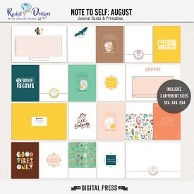 Note To Self August | Pocket Cards