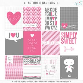 Valentine Journal Cards (CU)