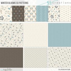 Winter Blooms Layered Patterns (CU)