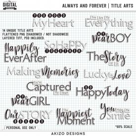 Always And Forever | Title Arts