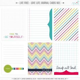 Live Free : Love Life Journal Cards 1 (CU)