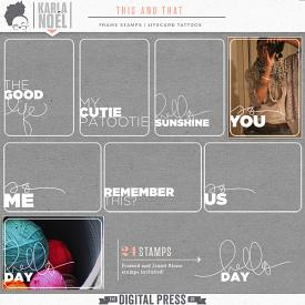 This and That | frame stamps