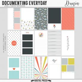 Documenting Everyday | April - Traveler's Notebook