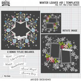 Winter Leaves 01 | Templates