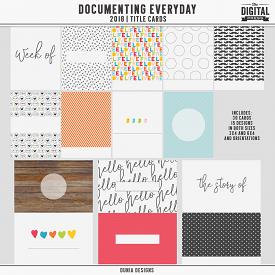 Documenting Everyday (2018) Title Cards