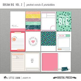 Dream Big | Pocket Cards and Printables Vol 2