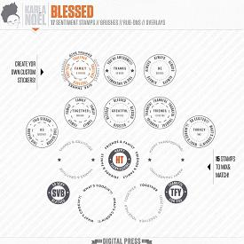 Blessed | badge stamps