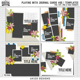 Playing With Journal Cards 05 | Templates