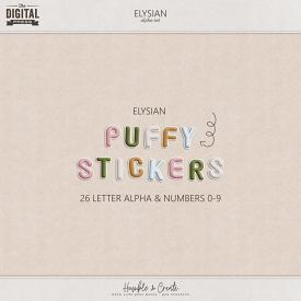 Elysian | Puffy Stickers Alphas and Numbers