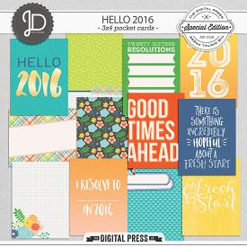 Hello 2016 | 3x4 Pocket Cards