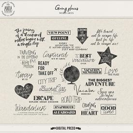 Going places | word art