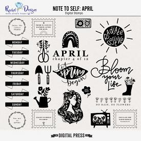 Note To Self April | Stamps