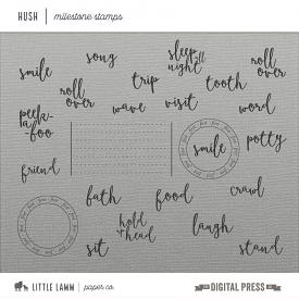 Hush | Milestone Stamps & Brushes