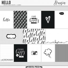 Hello | Black and White Cards