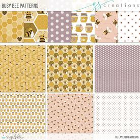 Busy Bee Layered Patterns (CU)