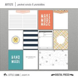 Artiste | Pocket Cards and Printables