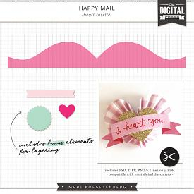 Happy Mail | Heart Rosette