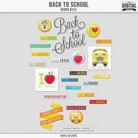 Back to School | Word Bits
