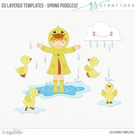 Spring Puddles2 Layered Templates (CU)