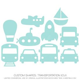 Transportation Shapes (CU)
