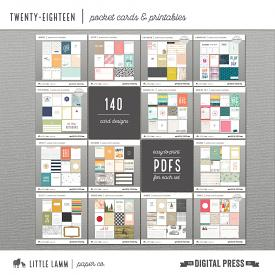 Twenty-Eighteen Pocket Card and Printable Collection