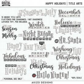 Happy Holidays | Title Arts