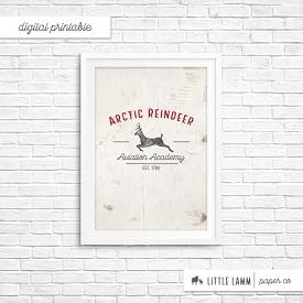 Arctic Reindeer│Printable Home Decor