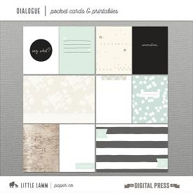Dialogue | Pocket Cards & Printables