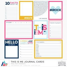 This is Me Journal Cards