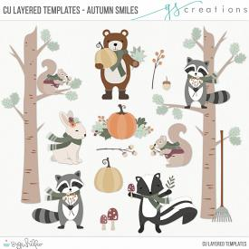 Autumn Smiles Layered Templates (CU)