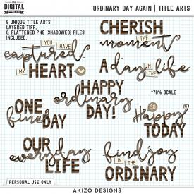 Ordinary Day Again | Title Arts
