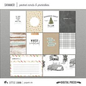 Shimmer | Pocket Cards and Printables